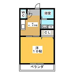 コモドカーサ[1階]の間取り