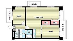 大阪府豊中市東豊中町2丁目の賃貸マンションの間取り