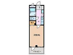 ビレッジヒロオ[2階]の間取り