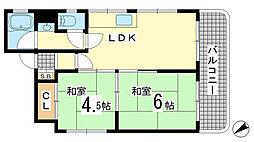 兵庫県神戸市兵庫区大開通10丁目の賃貸マンションの間取り