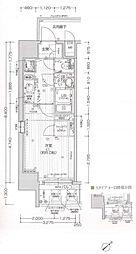 エスリードOOSAKAJO-アクシス 8階1Kの間取り