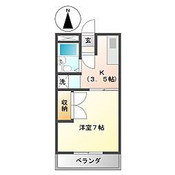 コーポランドムラタ[1階]の間取り