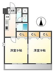 キャッスルプラザ甲子園アネックス[9階]の間取り
