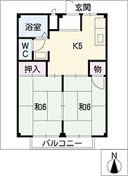 リバーサイド小川A棟・B棟[2階]の間取り