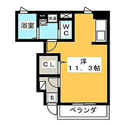 S・K・Y南小泉[1階]の間取り