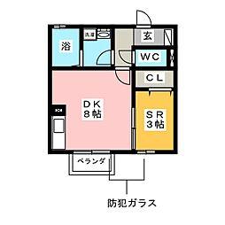 Maison Glycine[1階]の間取り