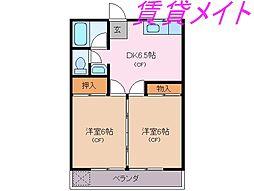 メゾン松鶴[1階]の間取り