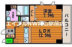 エクセレント東島田[2階]の間取り