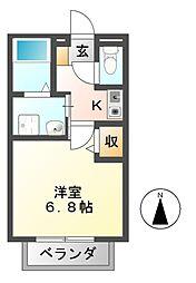 セジュールシャトレー A棟[2階]の間取り