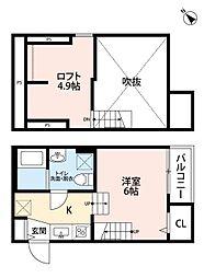 福岡県福岡市西区周船寺2丁目の賃貸アパートの間取り