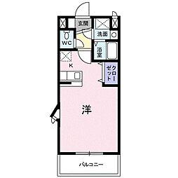 アーデント・インプレス A[2階]の間取り
