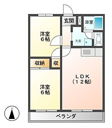 SUN−EAST−AOKI[2階]の間取り