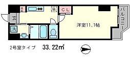 ボナール・レーブ[2階]の間取り