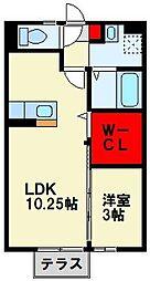 エスタシオン・浅川[1階]の間取り