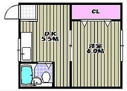 Casa堺三条[1階]の間取り