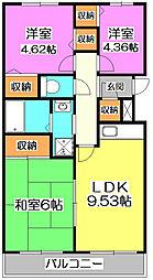 レスポワール池田[2階]の間取り