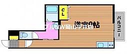 JR山陽本線 高島駅 徒歩28分の賃貸アパート 1階ワンルームの間取り