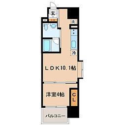 S-FORT青葉上杉[6階]の間取り