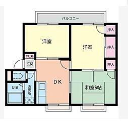 神奈川県座間市座間の賃貸アパートの間取り