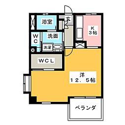 秀乃郷[3階]の間取り
