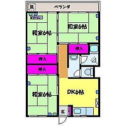 クローネ太閤山D棟[4階]の間取り
