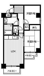 兵庫県伊丹市荒牧4丁目の賃貸マンションの間取り
