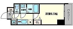 エス・キュート京町堀(旧プレサンス京町堀サウス) 6階1Kの間取り