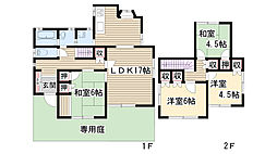 [一戸建] 愛知県名古屋市名東区引山1丁目 の賃貸【/】の間取り