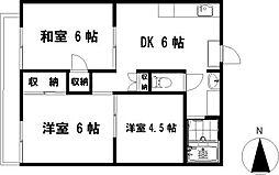 茅ヶ崎ドミール21[2階]の間取り