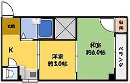 山田マンション[2階]の間取り