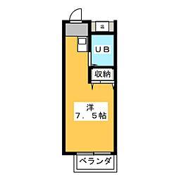 コスモアネックスサッサ[3階]の間取り