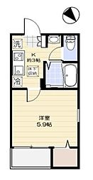 東京都練馬区高野台1丁目の賃貸アパートの間取り