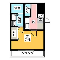 アマーレ松原[2階]の間取り