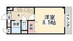 ツインステージ南花屋敷[3階]の間取り