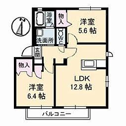 SQUARE35 E棟[2階]の間取り