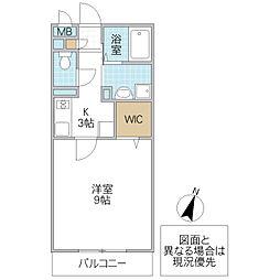 パークヒル櫻山 II[205号室号室]の間取り