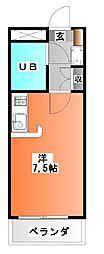 埼玉県戸田市川岸2の賃貸マンションの間取り
