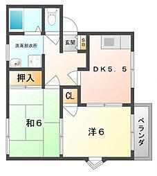 ハイツヒミコ[1階]の間取り