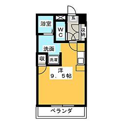 PJ石薬師[3階]の間取り