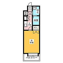 ダイナコートエスタディオレシェンテ[6階]の間取り