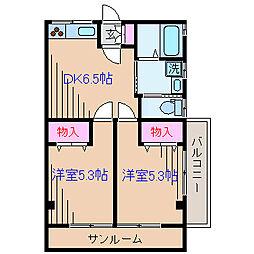 神奈川県横浜市港北区樽町3丁目の賃貸マンションの間取り