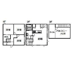 [一戸建] 北海道旭川市2条通4丁目 の賃貸【/】の間取り