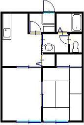 メゾンリバーII[2階]の間取り