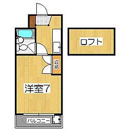 CIEUX京都(ショー京都)[4階]の間取り