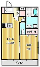イーストパレスY-7[1階]の間取り