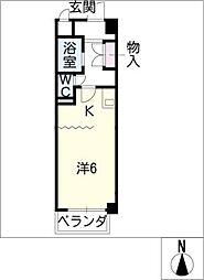 アルモニー晴丘[2階]の間取り