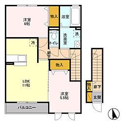 コージーハウス・セカンド[2階]の間取り