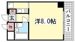 ライオンズマンション神戸西元町[8階]の間取り
