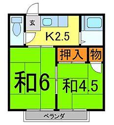サンハウス松本B[2階]の間取り