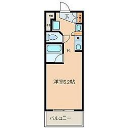 オルト春日井[208号室]の間取り